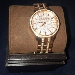 Rose Gold Diamond Michael Kors Watch